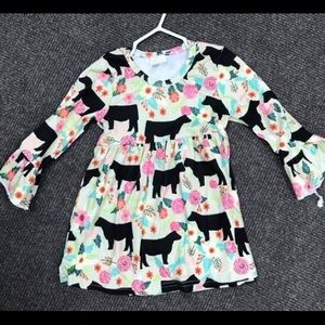 Long sleeve cow dress